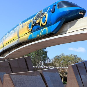 7 of 9: Walt Disney World Monorail System - Monorail TRON