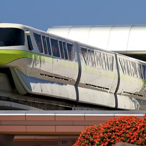 7 of 7: Walt Disney World Monorail System - Monorail Lime