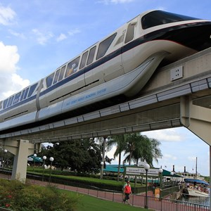 1 of 2: Walt Disney World Monorail System - Monorail Black with Halloween graphics