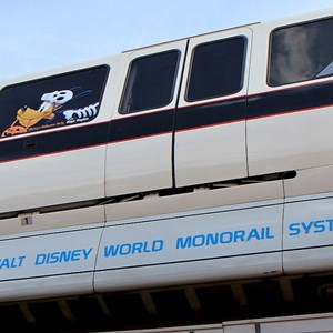 2 of 2: Walt Disney World Monorail System - Monorail Black with Halloween graphics