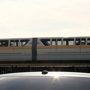 1 of 2: Walt Disney World Monorail System - Monorail Peach painted