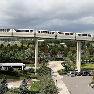 5 of 8: Walt Disney World Monorail System - Monorail Peach