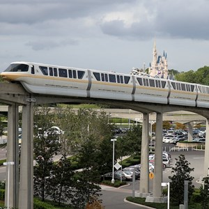 6 of 8: Walt Disney World Monorail System - Monorail Peach