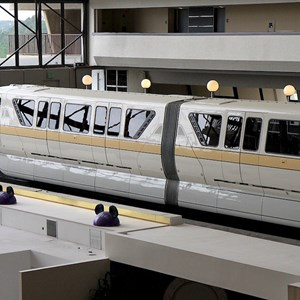 8 of 8: Walt Disney World Monorail System - Monorail Peach