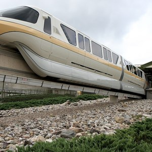 2 of 8: Walt Disney World Monorail System - Monorail Peach