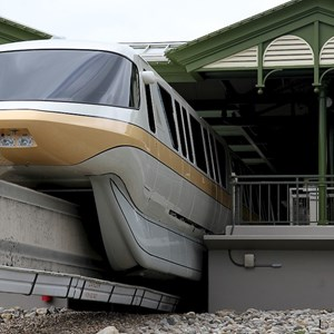 3 of 8: Walt Disney World Monorail System - Monorail Peach