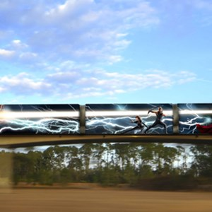 1 of 1: Walt Disney World Monorail System - 'The Avengers' monorail concept art