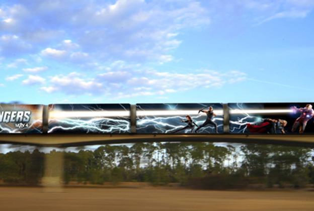 'The Avengers' monorail concept art