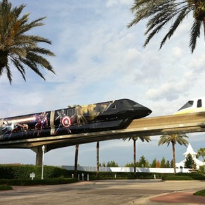 1 of 5: Walt Disney World Monorail System - Avengers wrap