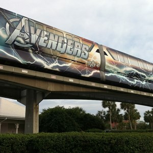 3 of 5: Walt Disney World Monorail System - Avengers wrap
