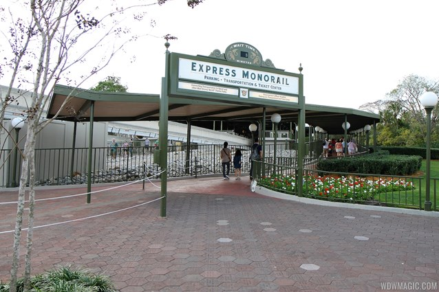 Walt Disney World Monorail System - Express monorail wait time at entrance