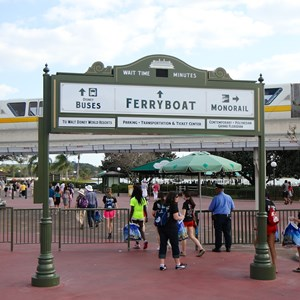 4 of 4: Walt Disney World Monorail System - Ferry boat wait time sign