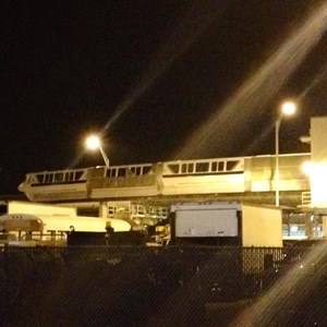 1 of 3: Walt Disney World Monorail System - Monorail Black preparing for wrap