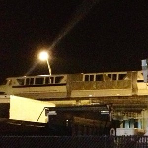 2 of 3: Walt Disney World Monorail System - Monorail Black preparing for wrap