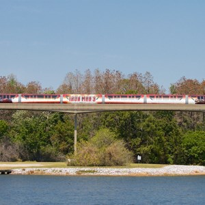 5 of 7: Walt Disney World Monorail System - Iron Man 3 wrapped Monorail Black on the Express beam