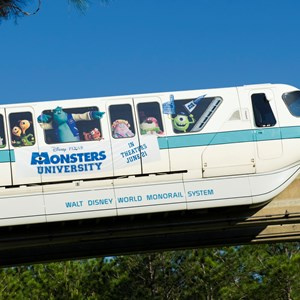 2 of 2: Walt Disney World Monorail System - Monsters University Monorail concept art