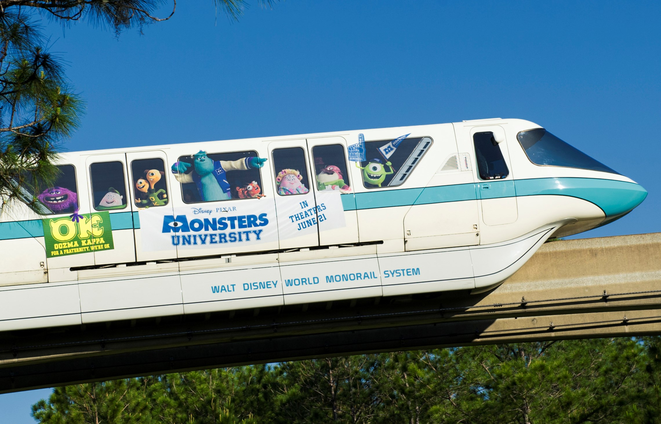Monsters University Monorail concept art