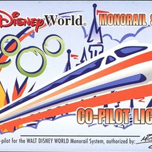 1 of 2: Walt Disney World Monorail System - Monorail co-pilot license