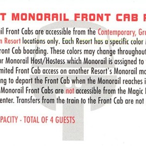 2 of 2: Walt Disney World Monorail System - Monorail co-pilot license