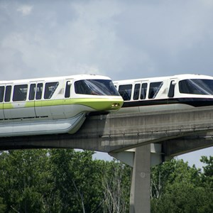 2 of 7: Walt Disney World Monorail System - Monorail Lime