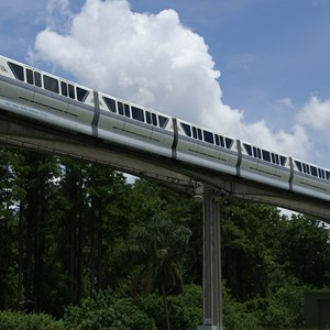 2 of 2: Walt Disney World Monorail System - Monorail Silver