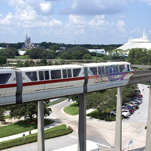 1 of 5: Walt Disney World Monorail System - Monorail Red