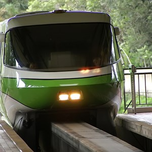 3 of 3: Walt Disney World Monorail System - Monorail Green