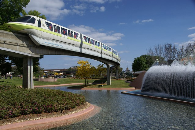 Walt Disney World Monorail System - Monorail Lime in Future World on the Epcot line.