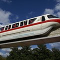 Walt Disney World Monorail System - Monorail Red entering Epcot
