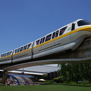 3 of 3: Walt Disney World Monorail System - Monorail Yellow