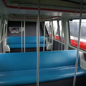 1 of 2: Walt Disney World Monorail System - Monorail Coral passenger cabin