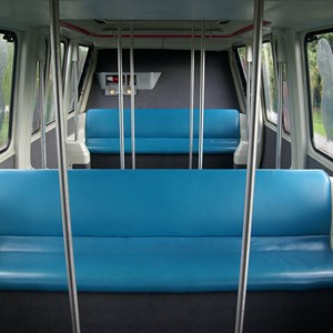 2 of 2: Walt Disney World Monorail System - Monorail Coral passenger cabin