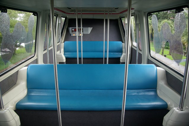 Walt Disney World Monorail System - Monorail Coral passenger cabin