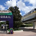 Walt Disney World Monorail System - Monorail Yellow arrives at the TTC on the Epcot Line