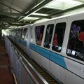 Walt Disney World Monorail System - A look along the length of Monorail Teal