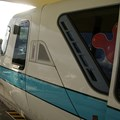 Walt Disney World Monorail System - A closeup look of Monorail Teal