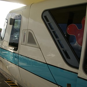 7 of 9: Walt Disney World Monorail System - A closeup look of Monorail Teal