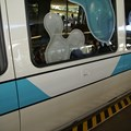 Walt Disney World Monorail System - The white delta to help differentiate Monorail Teal from Monorail Blue