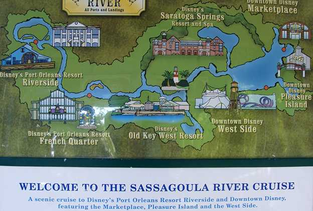Sassagoula River Cruise map