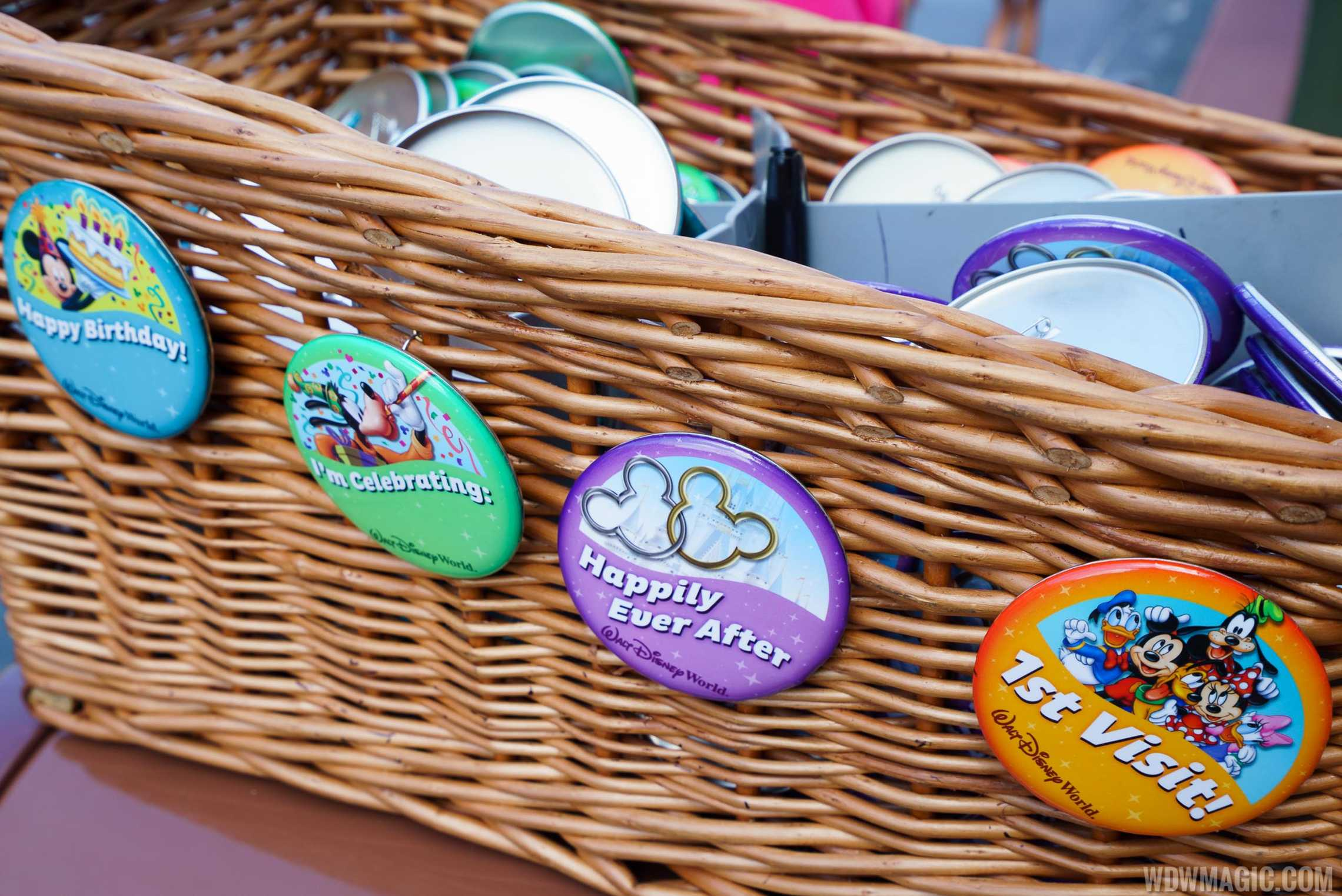 Disney World Celebration Buttons