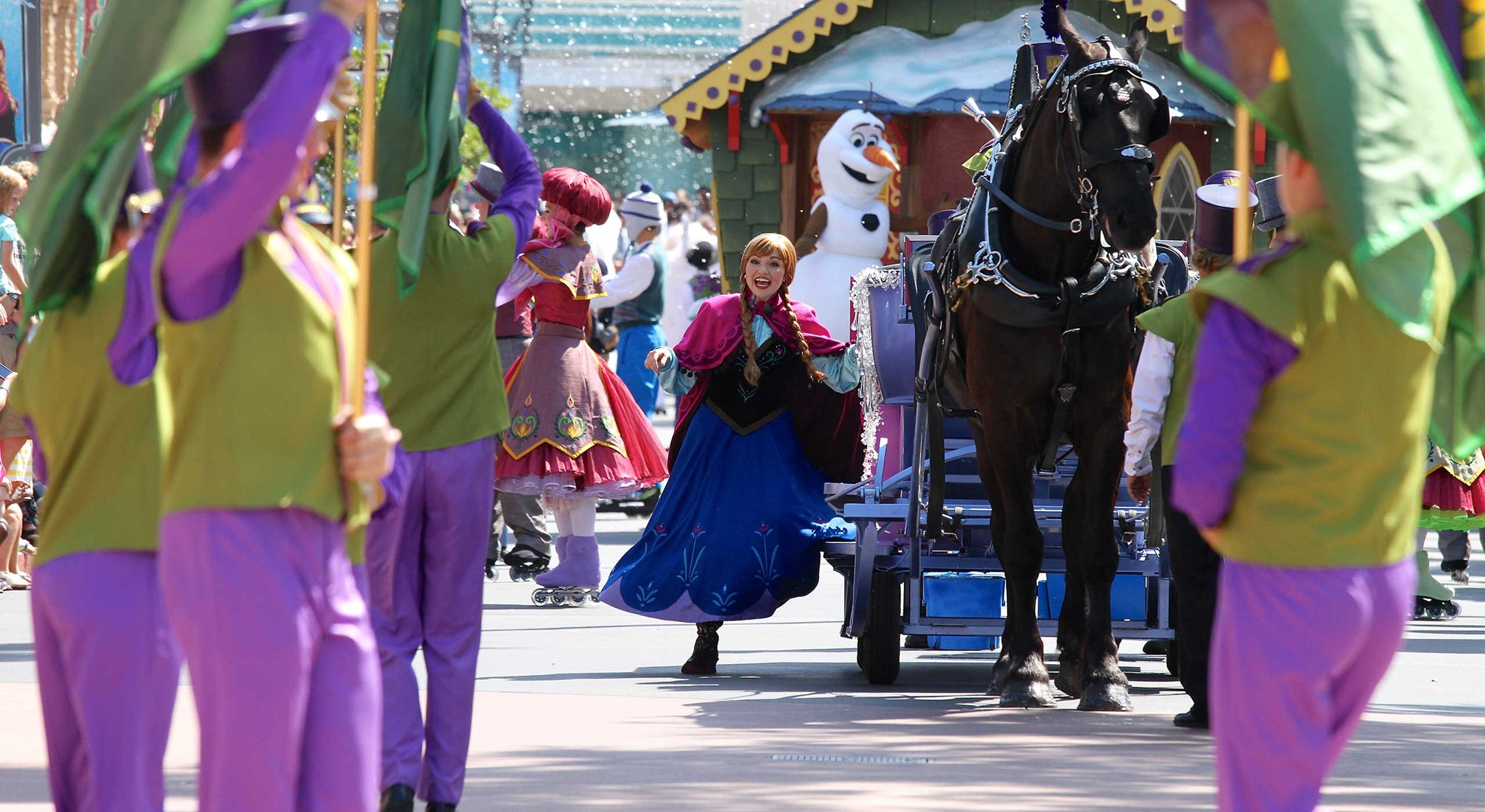Princess Anna in the Royal Welcome at Disney's Hollywood Studios