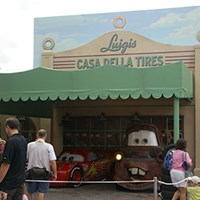 The Stars of Cars at Luigi's Garage