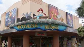 Voyage of the Little Mermaid and nearby shops closing for refurbishment next week