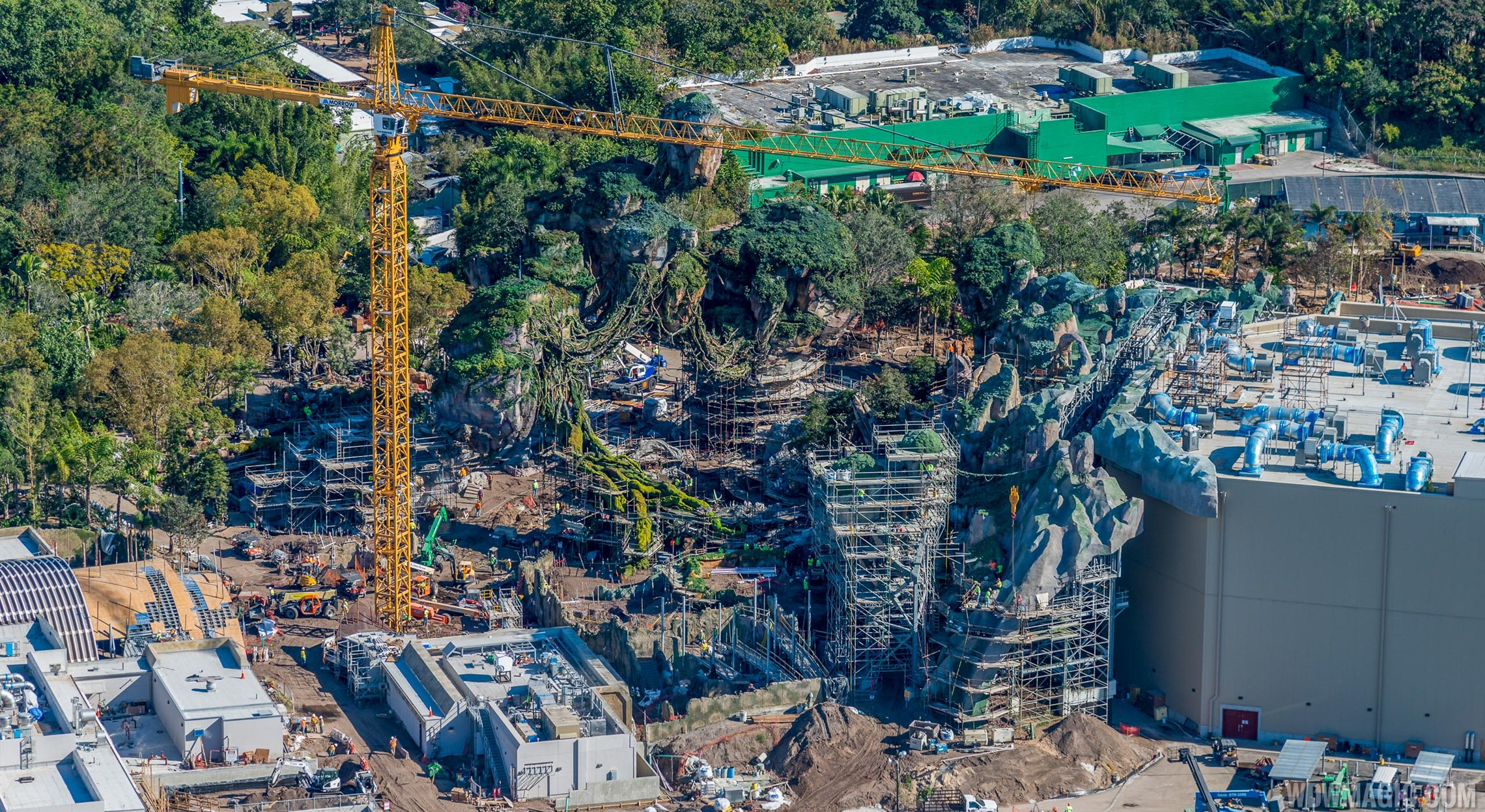 Aerial views of 'Pandora - The World of Avatar'