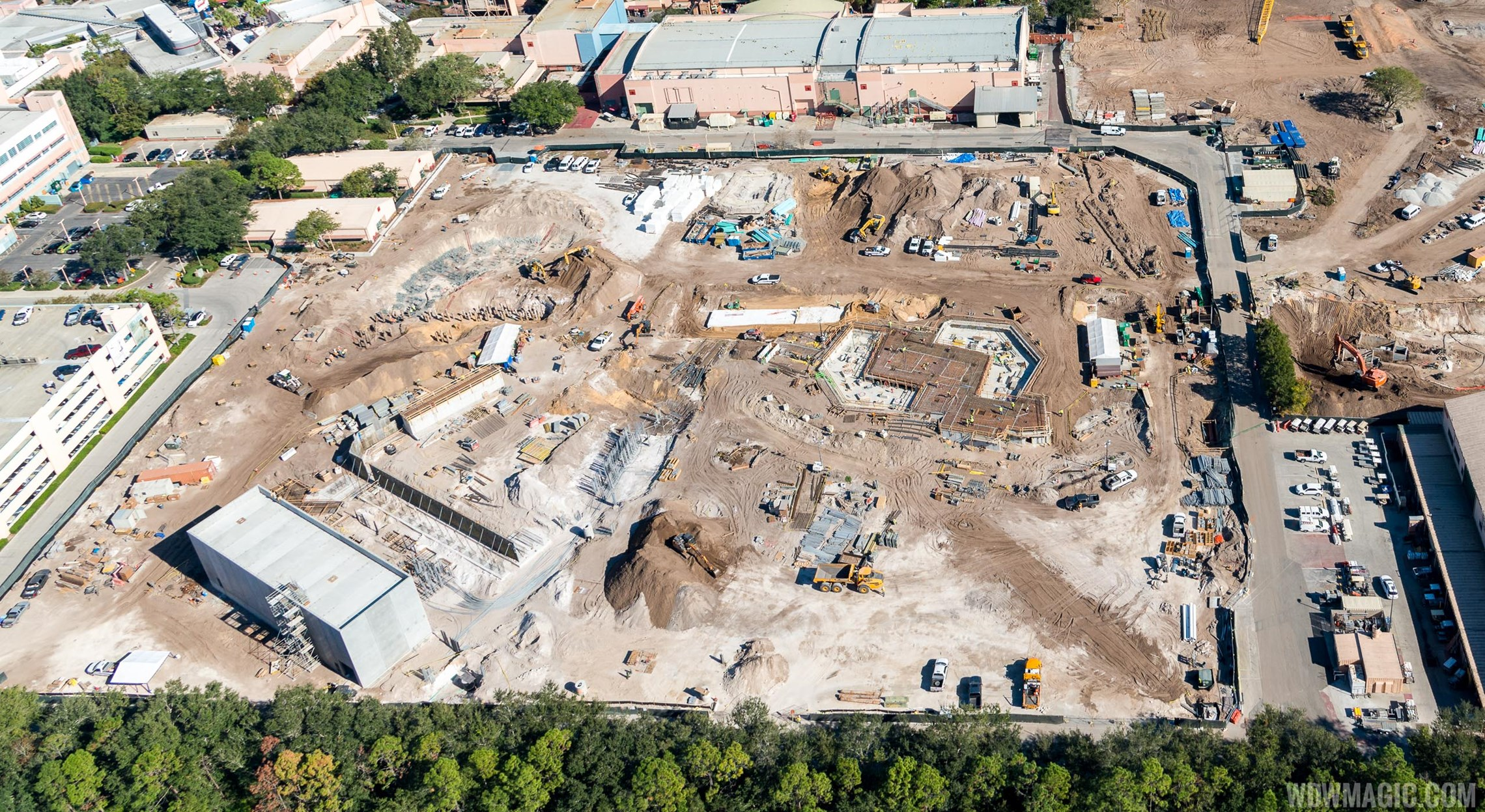 See Toy Story Land construction from the air
